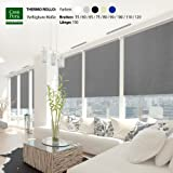 casa pura® Verdunkelungsrollo mit drei flexiblen Befestigungsarten in neun Größen | Grau | 110x150cm