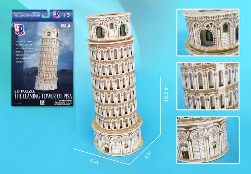 518OYdlk6VL Buy  Leaning Tower Of Pisa 3d Puzzle