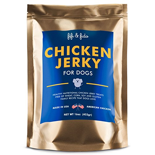 Dog Treats Made in the USA Only - Chicken Jerky Chew Sticks - All Natural Healthy Gluten & Grain Free Pet Food Snacks - Perfect Training Supplies - Fifi & Fido Chicken Jerky Treats (Dog Treats Made In Usa Bulk compare prices)