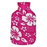 Warm Tradition Pink Orchid Fleece Covered Hot Water Bottle -Bottle made in Germany, Cover made in USA