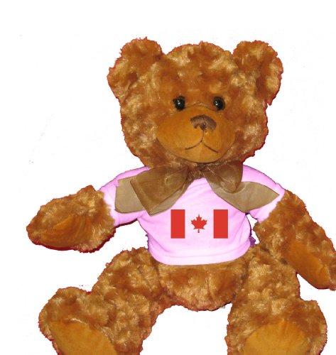 CANADA / CANADIAN FLAG Plush Teddy Bear  WHITE