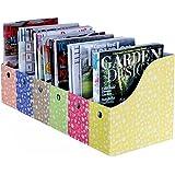 Evelots Lot of 6 Magazine/File Holders Bins Flower Design Storage Folders