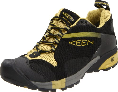 KEEN Women's Tryon Waterproof Trail Running Shoe,Black/Golden Olive,5 M US