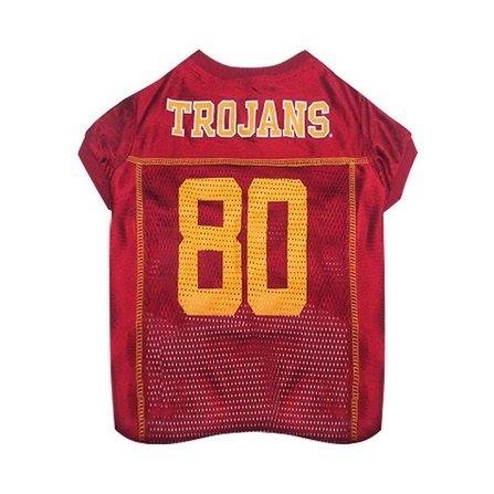[Mirage Pet Products Sports Dog Apparel USC Trojans Pet Jersey Costume Outfit XS-By BlueTECH] (Usc Fan Costume)