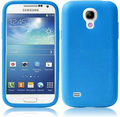 Vmg 2-Item Combo For Samsung Galaxy S4 Mini Gt-I9190 Cell Phone Soft Gel Silicone Skin Case Cover - Light Blue + Lcd Clear Screen Saver Protector [Special Promo Price]