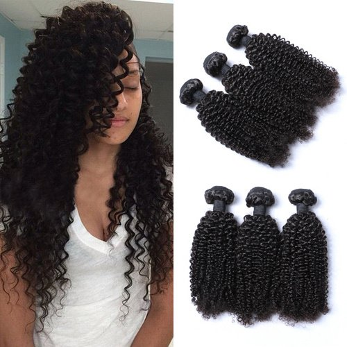 E-forest-hair-Weft-3-Bundles-300g-Brazilian-Virgin-Human-Hair-Weaves-Extension-Unprocessed-Curly-Natural-color-Size-10-10-10