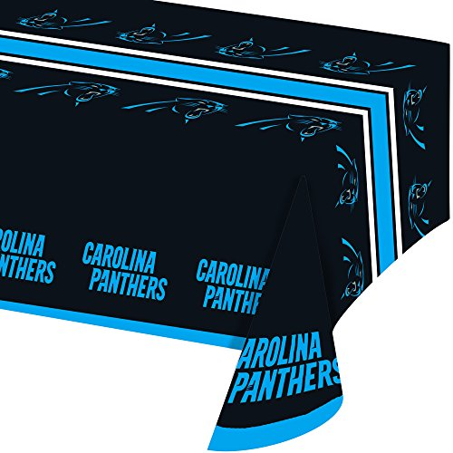 Creative Converting All Over Print Carolina Panthers Plastic Banquet Table Cover