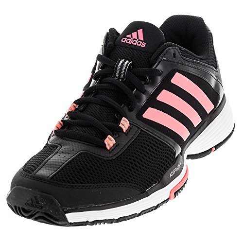 Adidas Performance Women's Barricade Club W Tennis Shoe, Black/Flash Red/White, 9 M US