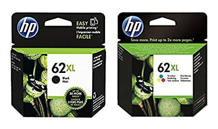 1 x Set original cartouche d'encre xL pour hP envy 7640 e all in one hP 62XL hP62XL-black color 100 feuilles de papier photo ti-sa 10 x 15 cm