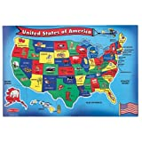 U.S.A. Map Floor Puzzle 440 (51 pc)