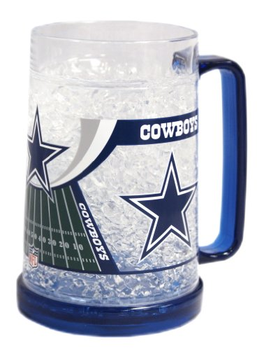 Dallas Cowboys 16oz Crystal Freezer Mug at Amazon.com