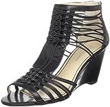 Enzo Angiolini Women's Hardley Wedge Sandal,Black,6.5 M US, Shoes Direct