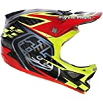 Troy Lee Designs Team CF D3 Carbon BMX Racing Helmet - Red / X-Large