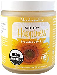 The Mood Factory Mood-Candles Happiness Certified Organic Candle, 8 oz.