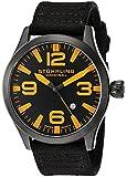"Stuhrling Original Men's 141B.335B57 ""Aviator Tuskegee Skylancer"" Stainless Steel and Black Canvas Watch"