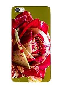 Omnam Red Painted Rose Printed Designer Back Cover Case For Xiaomi Mi5