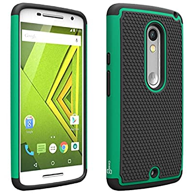 Motorola Droid Maxx 2 Case Moto X Play Case, CoverON® [HexaGuard Series] Slim Hybrid Hard Cover Phone Case for Motorola Droid Maxx 2 / Moto X Play by CoverON