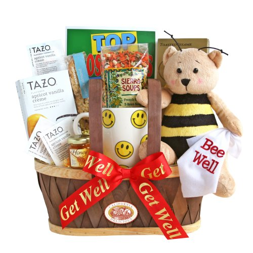 California Delicious  Gift Basket, Get Well Soon, 5 Pound