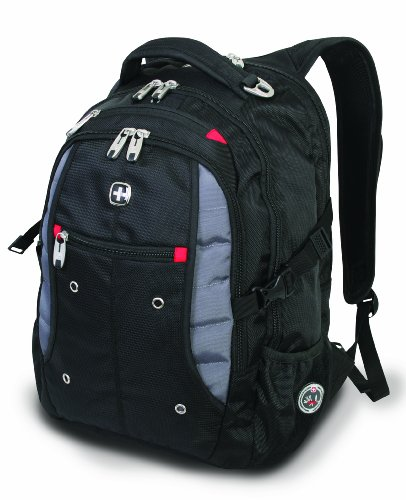 SwissGear SA1181 Black Backpack with Grey Accents