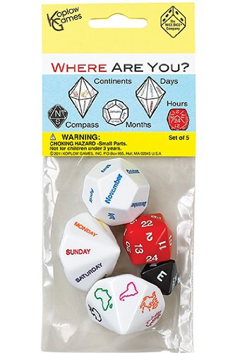 Koplow Games Inc. KOP17625 Where Are You Dice