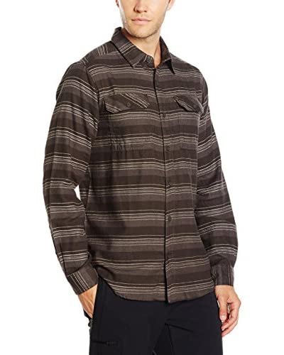 Columbia Camisa Hombre Flare Gun Flannel Marrón Oscuro