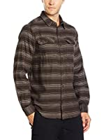 Columbia Camisa Hombre Flare Gun Flannel (Marrón Oscuro)