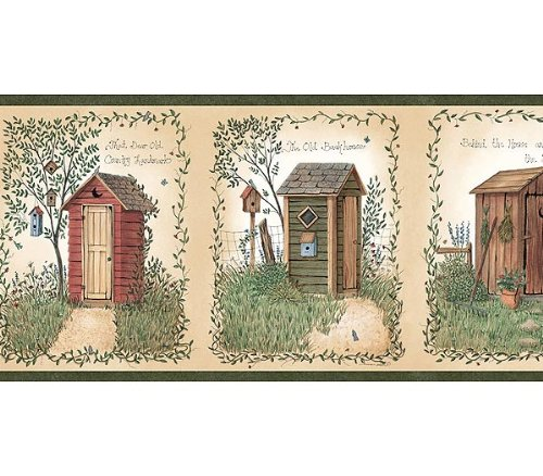 christmas wallpaper country outhouse lodge bathroom