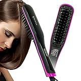 Apalus Glätteisen Glättungbürste Haarglätter Bürste Keramik Haarglätter Glattes Haar Styling Glättbürste Elektrische zum Glätten für Lange Haare Pflegen