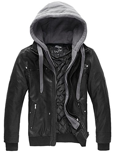 wantdo-mens-vintage-leather-winter-jacket-with-removable-hood-us-medium-blackheavy