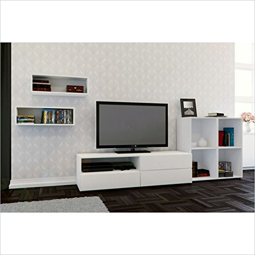 Nexera Blvd 4 Piece Entertainment Set in White