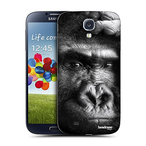 Head Case Designs Black And White Gorilla Wildlife Replacement Battery Back Cover for Samsung Galaxy S4 I9500