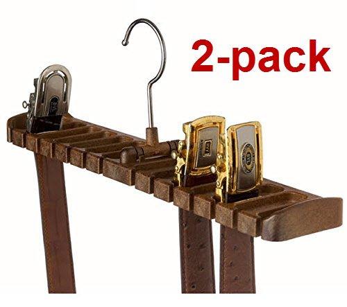 2 Pack Tenby Living Belt Rack Organizer Hanger