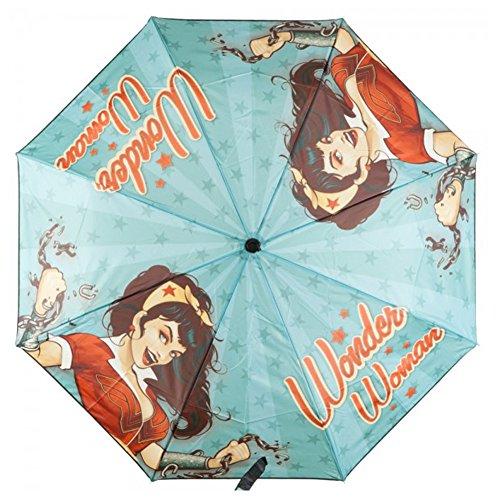 BioWorld Womens DC Comics Wonder Woman Compact Umbrella 1