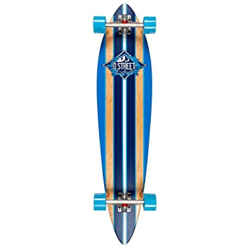 D Street Pinstripe Pintail Cruiser Complete Blue Length:42.00 Inches