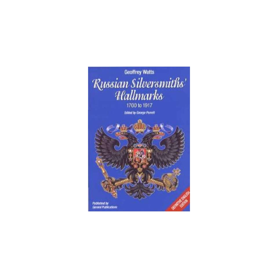 Guide to Russian Silver Hallmarks Paul  L  Paulson Books on