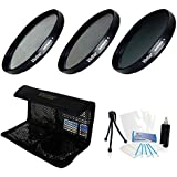 52mm Digital High-Resolution ND8 Filter Kit (UV CPL ND8) With Deluxe Filter Carry Case For Select Pentax Digital...