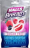 Halls Sugar Free Breezers, Cool Berry, 20-Count Drops (Pack of 12)
