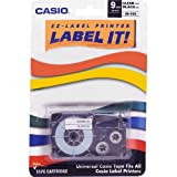 Casio XR9-XS 9mm Label Printer Tape for CWL-300 (Black-On-Clear)