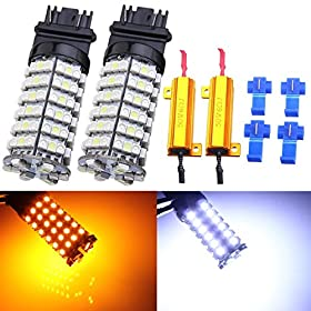 ISSEC 3157-3528 SMD LED Dual Color Switchback Turn Signal Light Bulb