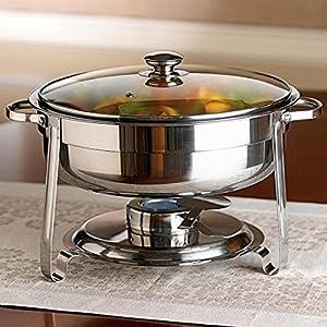 Brylanehome 4.6 Qt. Round Chafing Dish