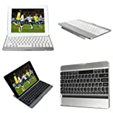 White New Wireless Bluetooth Keyboard Aluminum Stand Dock Case Cover For Apple iPad Air 5 By FamilyMall