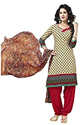 VSS Collections Women's Synthetic Unstitched Dress Material(1063,Multi-Color)