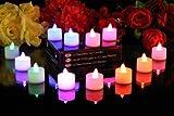 PK Green - Stimmungslichter LED Kerzen - wechseln die Farbe - Set aus 12 Stück - Wechselt Farbe
