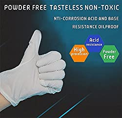 Premium Nitrile Rubber Gloves,Real Food Safe Powder Free [Medical Grade][Non Sterile][Non latex][Puncture Resistance] Heavy Duty Industrial Disposable Exam Gloves [Extra Comfortable] [100 Count] Large
