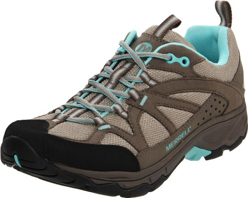 MERRELL Calia Ladies Hiking Shoes, Grey/Blue, UK8