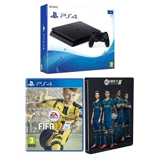 PlayStation 4 1 Tb D Chassis Slim + FIFA 17 + Steelbook Esclusiva Amazon