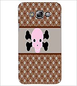 PrintDhaba skull D-4787 Back Case Cover for SAMSUNG GALAXY A8 (Multi-Coloured)