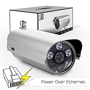 INSTAR IN-5907HD PoE IP-Kamera für den Außenbereich (WDR-Bildsensor, 1 Megapixel, 3x High Power IR LEDs, 13 Watt) silber