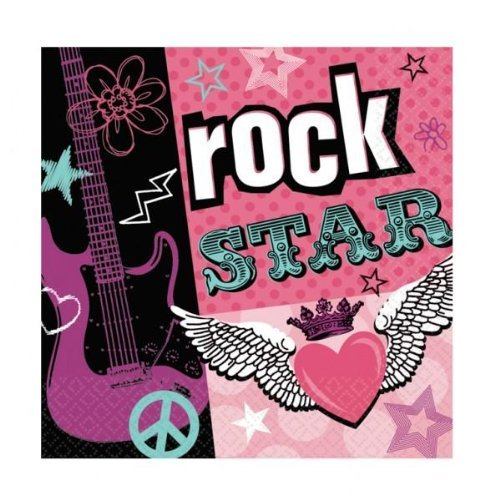 Rocker Girl Luncheon Napkins