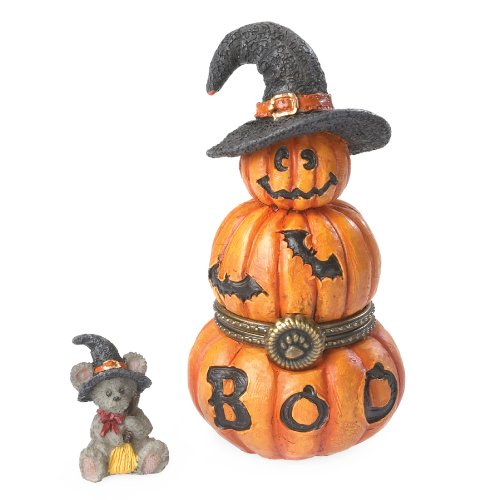 Boyds Resin Stacked Jackolantern Trinket Box